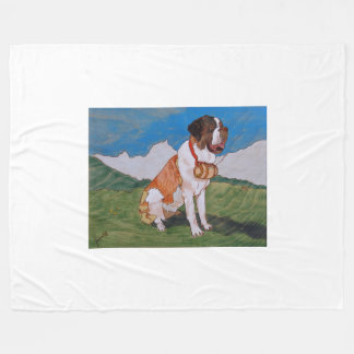 St. Bernard cover Fleece Blanket