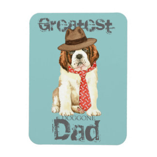 St. Bernard Dad Rectangular Photo Magnet
