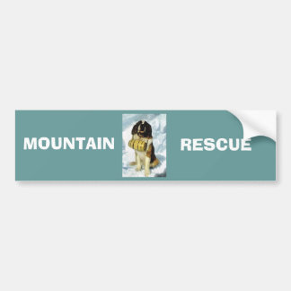 St Bernard dog, Mountain Rescue Bumper Sticker