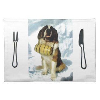 St Bernard dog, Mountain Rescue Placemats
