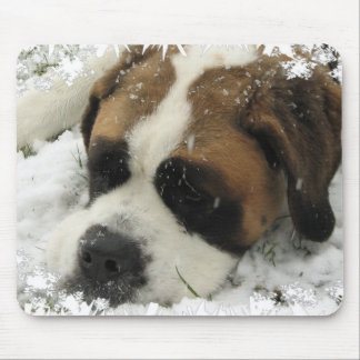 St Bernard Dog Mouse Pad