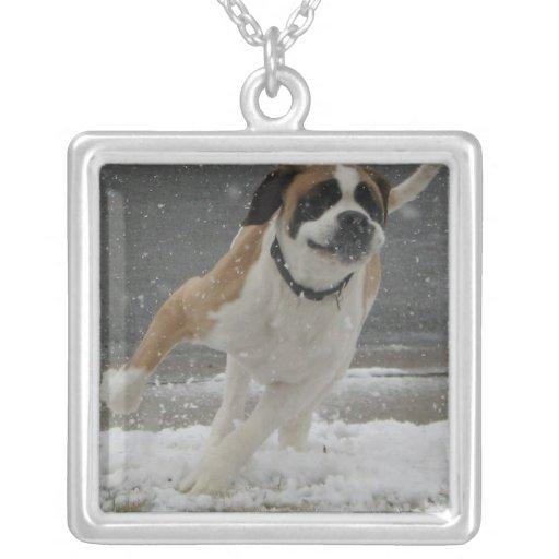 St Bernard Dog Running Necklace