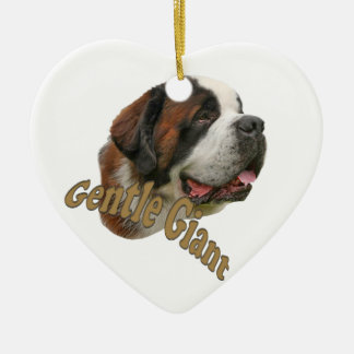 St. Bernard Gentle Giant Ceramic Ornament