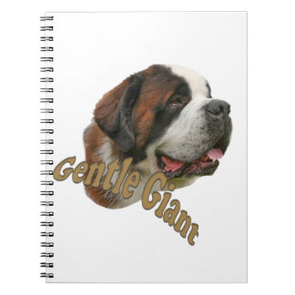 St. Bernard Gentle Giant Spiral Note Book
