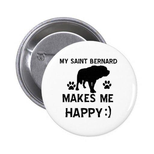 St Bernard gift items Pinback Buttons