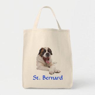 St. Bernard Grocery Canvas Tote Bag