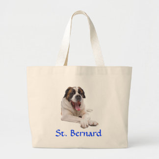 St. Bernard Jumbo Canvas Tote Bag