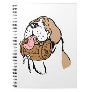 St. Bernard Keg Dog Note Books