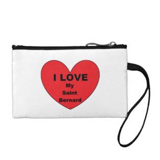 st bernard love coin purse