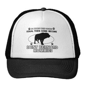 St Bernard Mommy Designs Trucker Hats