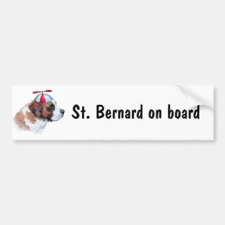 St. Bernard On Board bumper sticker Car Bumper Sticker