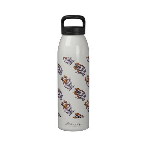 St. Bernard Patterns Water Bottles