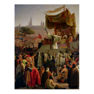 St. Bernard Preaching the Second Crusade Postcard