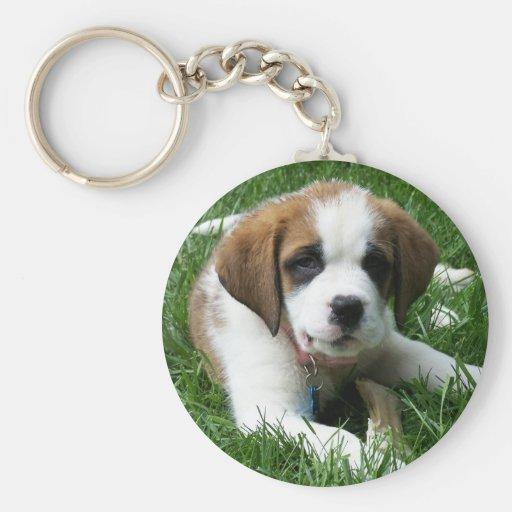 St. Bernard Puppy Keychain