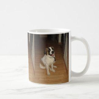 st bernard sitting coffee mug