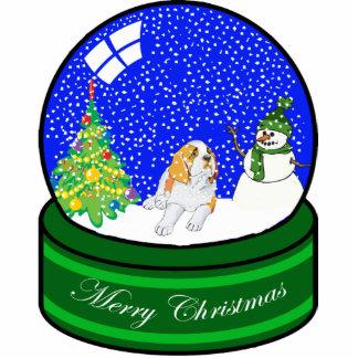 st bernard snow globe photo cutouts
