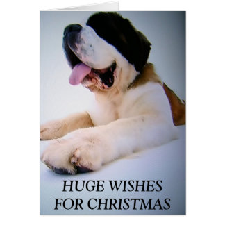 ST. BERNARD TO THE RESCUE=CHRISTMAS CARD