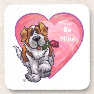 St. Bernard Valentine's Day Drink Coaster