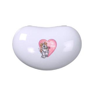 St. Bernard Valentine's Day Jelly Belly Candy Tin