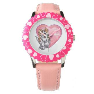 St. Bernard Valentine's Day Wrist Watches