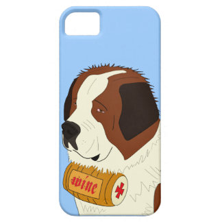 St. Bernard with a Small Wine Barrel - Line Art iPhone 5 Cases