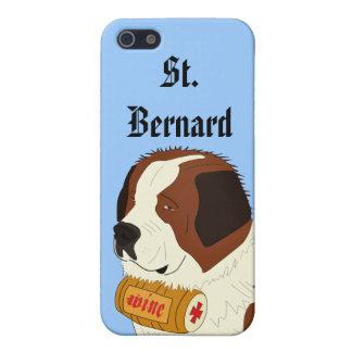 St. Bernard with a Small Wine Barrel - Line Art iPhone 5/5S Case