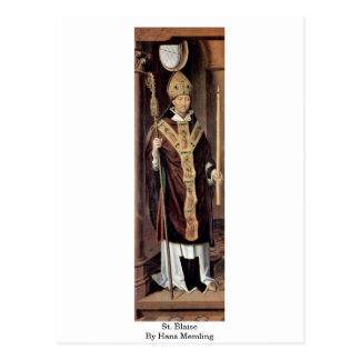 St. Blaise By Hans Memling Postcard