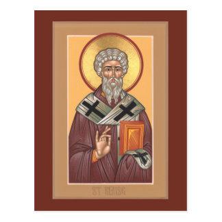 St. Blaise Prayer Card Postcard