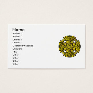 St. Brynach's Cross in Gold Business Card