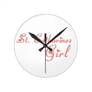 St. Catharines Girl Round Clock