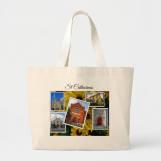 St. Catharines Photo Collage Large Tote Bag