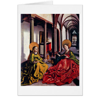 St.Catherine And Mary Magdalene By Konrad Witz Card