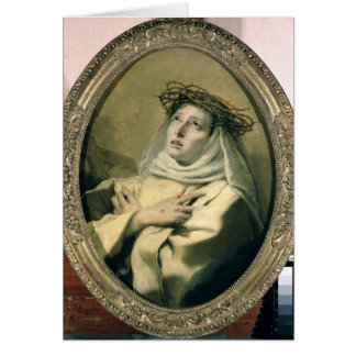 St. Catherine of Siena , c.1746 Card