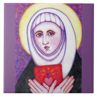 """""""St Catherine of Siena"""" Large Square Tile"""