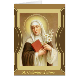 St. Catherine of Siena  Scripture Lilies Card