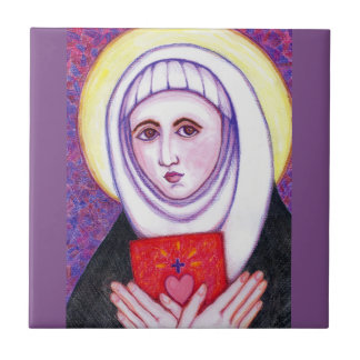 St Catherine of Sienna Small Square Tile
