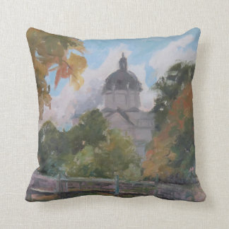 St. Catherine's Church Color Study Throw Pillow