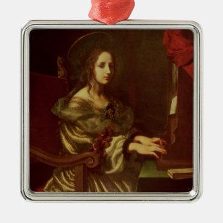 St. Cecilia 2 Metal Ornament