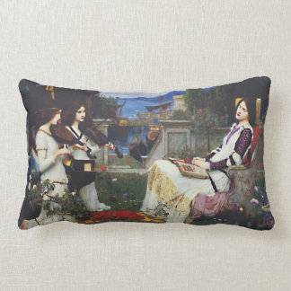 St. Cecilia and the Angels with Violins Lumbar Cushion