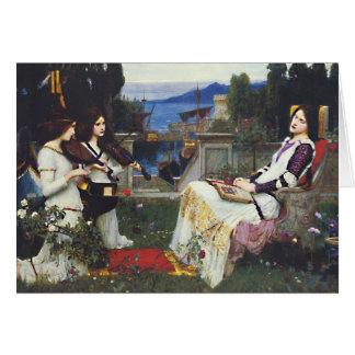 St Cecilia -  John William Waterhouse Card