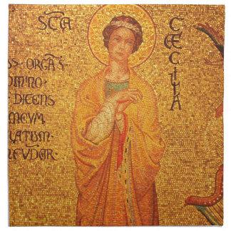 St Cecilia, Patron Saint of Musicians, napkins