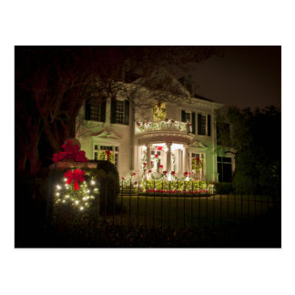 St Charles Avenue Holiday lights Postcard