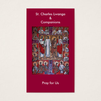 St. Charles Lwanga & Companions Prayer Card
