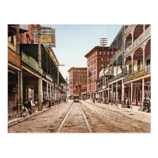 St. Charles Street New Orleans 1900 Vintage Postcard