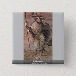 St. Christopher By Beccafumi Domenico 15 Cm Square Badge