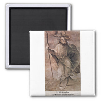 St. Christopher By Beccafumi Domenico Magnet