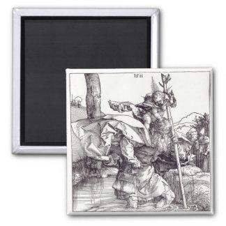 St.Christopher carrying the Infant Christ, 1511 Fridge Magnet
