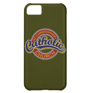 St. Christopher Catholic Church Blue on Red Case For iPhone 5C