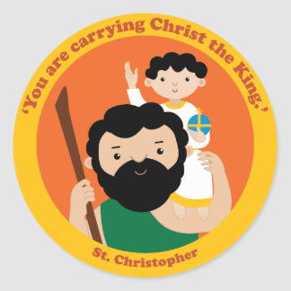 St. Christopher Classic Round Sticker