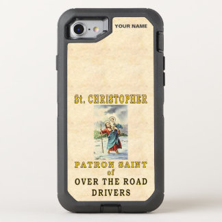 St. CHRISTOPHER  (Patron Saint of OTR Drivers) OtterBox Defender iPhone 8/7 Case